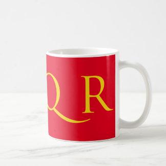 SPQR Mug Red with Yellow Font