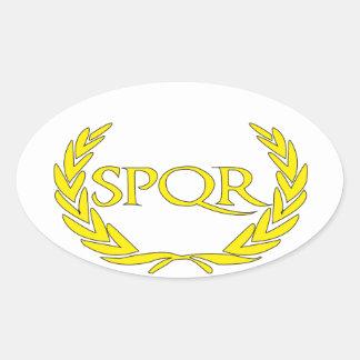 SPQR Roma Oval Sticker