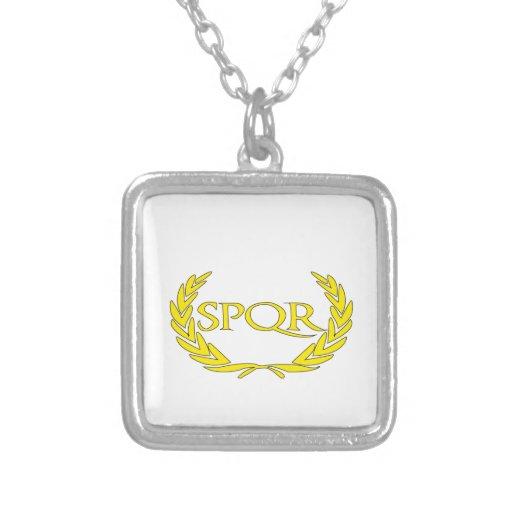 SPQR Roma Pendiente Personalizado