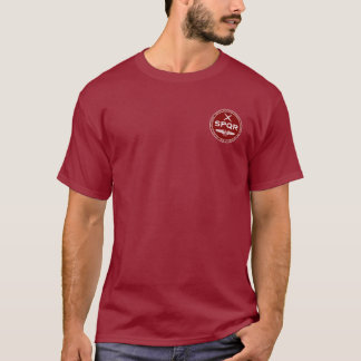 SPQR Roman Legion Maroon & White Seal Shirt