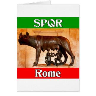 SPQR Rome Card
