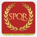 SPQR Square Roman Sticker