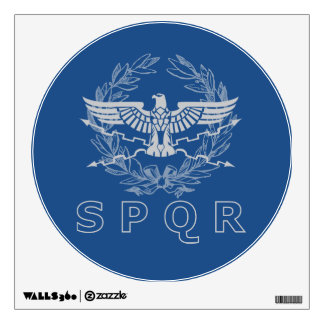 SPQR The Roman Empire Emblem Wall Decal