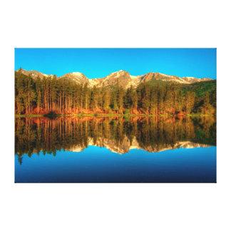 Sprague Lake Morning Golden Hour, Summer Solstice Canvas Print