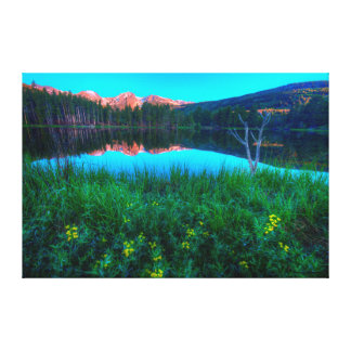 Sprague Lake Sunrise Alpenglow, Summer Solstice Canvas Print