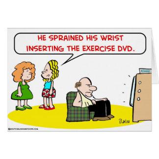 sprained wrist exercise DVD Card