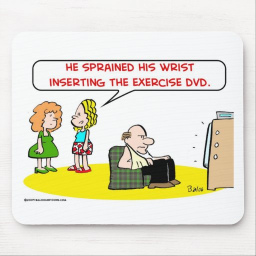 sprained wrist exercise DVD Mouse Pads