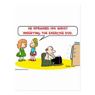 sprained wrist exercise DVD Postcard