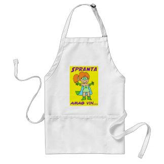 spranta esperanto amas vin adult apron