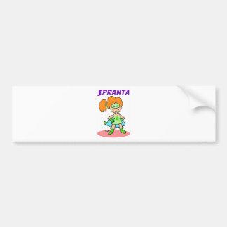 spranta esperanto bumper sticker