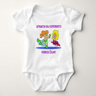 spranta kaj esperanto venkos chiujn cxujn ciujn baby bodysuit