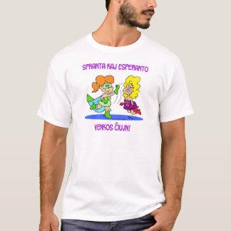 spranta kaj esperanto venkos chiujn cxujn ciujn T-Shirt