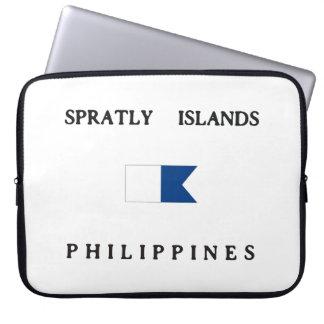Spratly Islands Philippines Alpha Dive Flag Laptop Sleeve