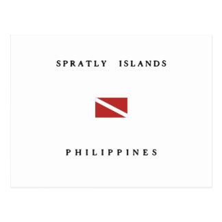 Spratly Islands Philippines Scuba Dive Flag Postcard