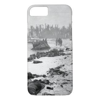 Sprawled bodies on beach of Tarawa_War Image iPhone 7 Case