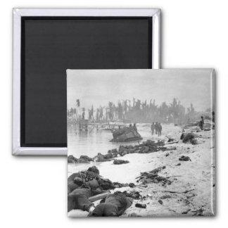 Sprawled bodies on beach of Tarawa_War  Image Magnet