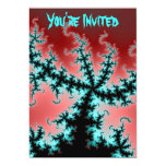 Sprawling In Red Fractal 5x7 Paper Invitation Card