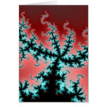 Sprawling In Red Fractal Greeting Card