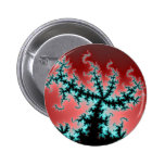 Sprawling In Red Fractal Pinback Buttons