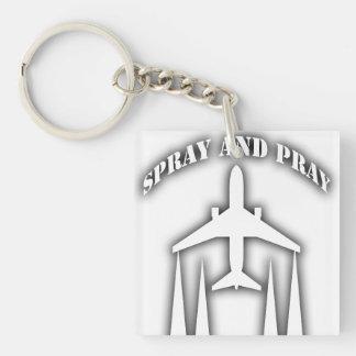 spray-and-pray chemtrails keychain