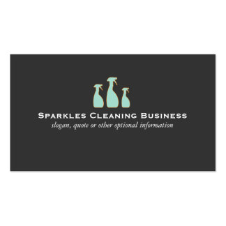 Spray Bottle Elegant Cleaning Service Logo Business Card
