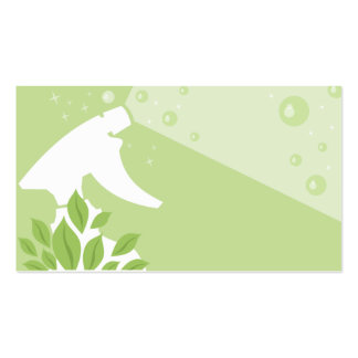 spray bottle house green cleaning business card