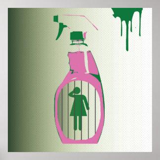 Spray Bottle Jail Poster