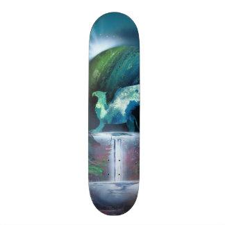 Spray can art print skateboard