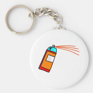 Spray Can Basic Round Button Keychain