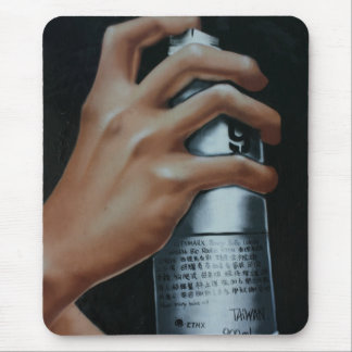 Spray can mousepads