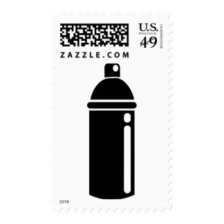 Spray can postage stamps