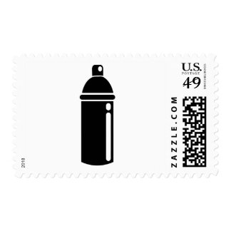 Spray can postage stamp