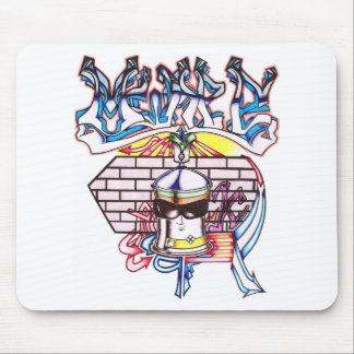 Spray Can White Mouse Pad