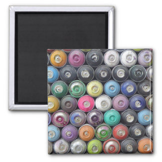 Spray cans 2 inch square magnet