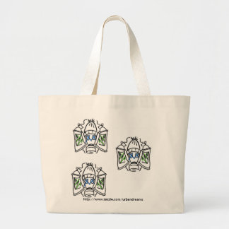 Spray Cans and Gas Masks Large Tote Bag