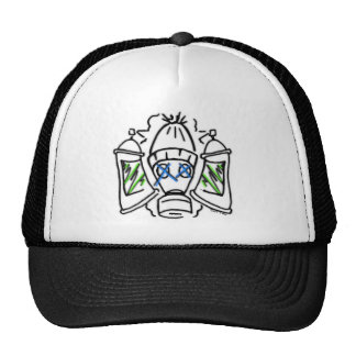 Spray Cans and Gas Masks Trucker Hat