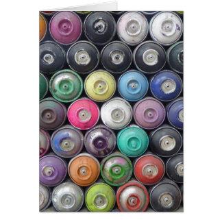 Spray cans card