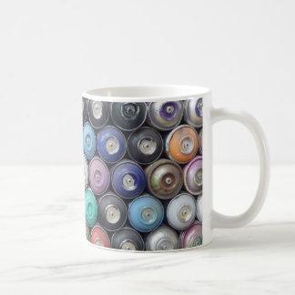 Spray cans coffee mug
