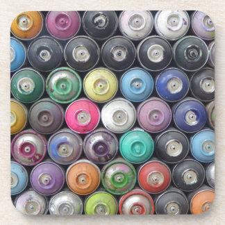 Spray cans drink coaster
