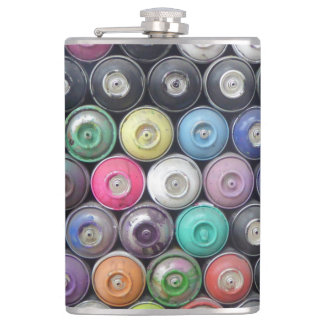Spray cans flask