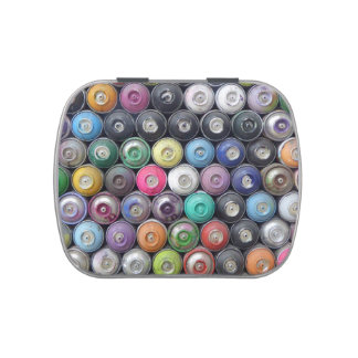 Spray cans jelly belly tins