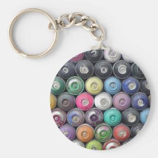 Spray cans keychain