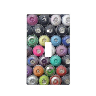 Spray cans light switch cover