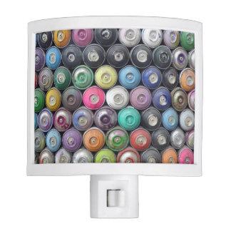 Spray cans night light