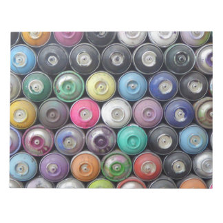 Spray cans note pad