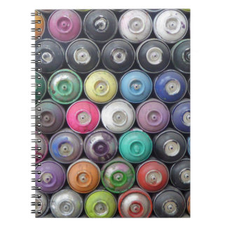 Spray cans notebook