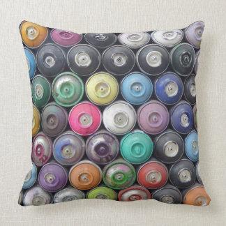 Spray cans pillow