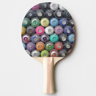 Spray cans ping pong paddle