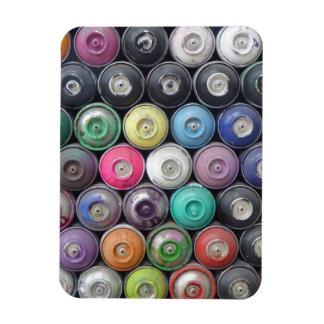 Spray cans rectangular photo magnet