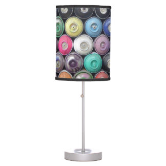 Spray cans table lamp